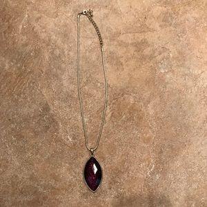 Marquette dark purple statement necklace